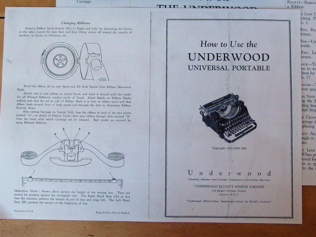Typewriter, 1932 Underwood Portable