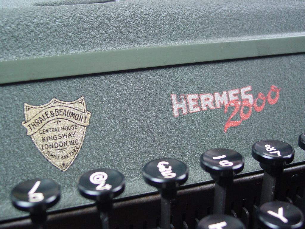 Typewriter, 1951 Hermes 2000 portable