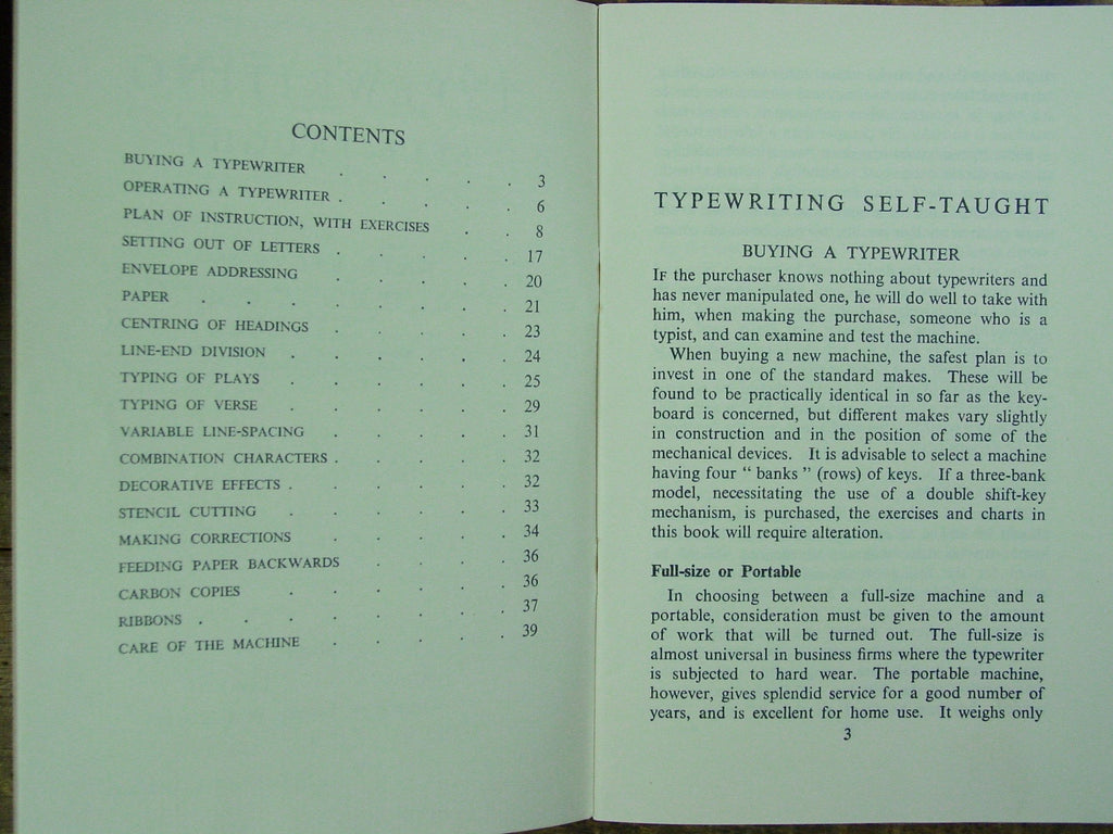 Typewriting Self-Taught Booklet 1954