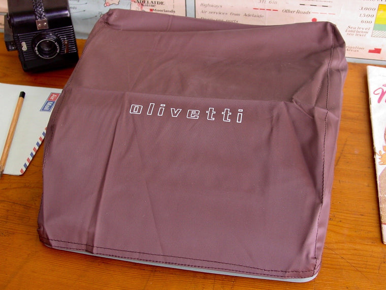 Vintage Olivetti Coffee Coloured Typewriter Dust Cover