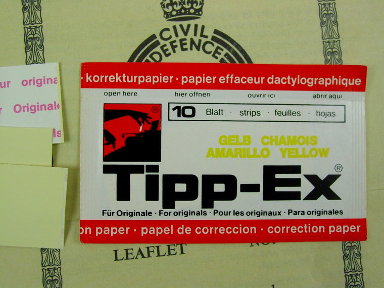 Tippex Correction Paper - Yellow