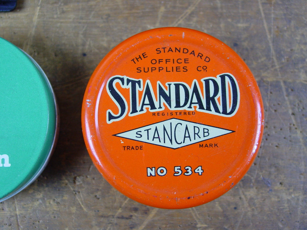 Set of 3 Typewriter Ribbon Tins, Imperitype, Burroughs and Standard