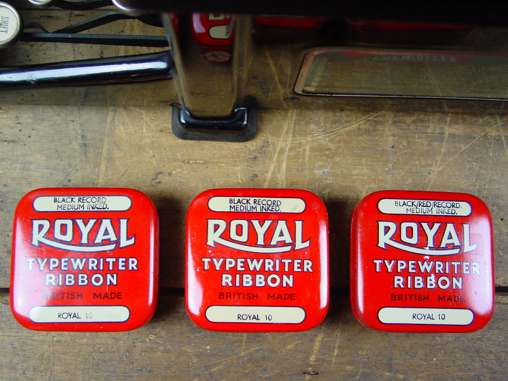 Set of 3 Royal Typewriter Ribbon Tins