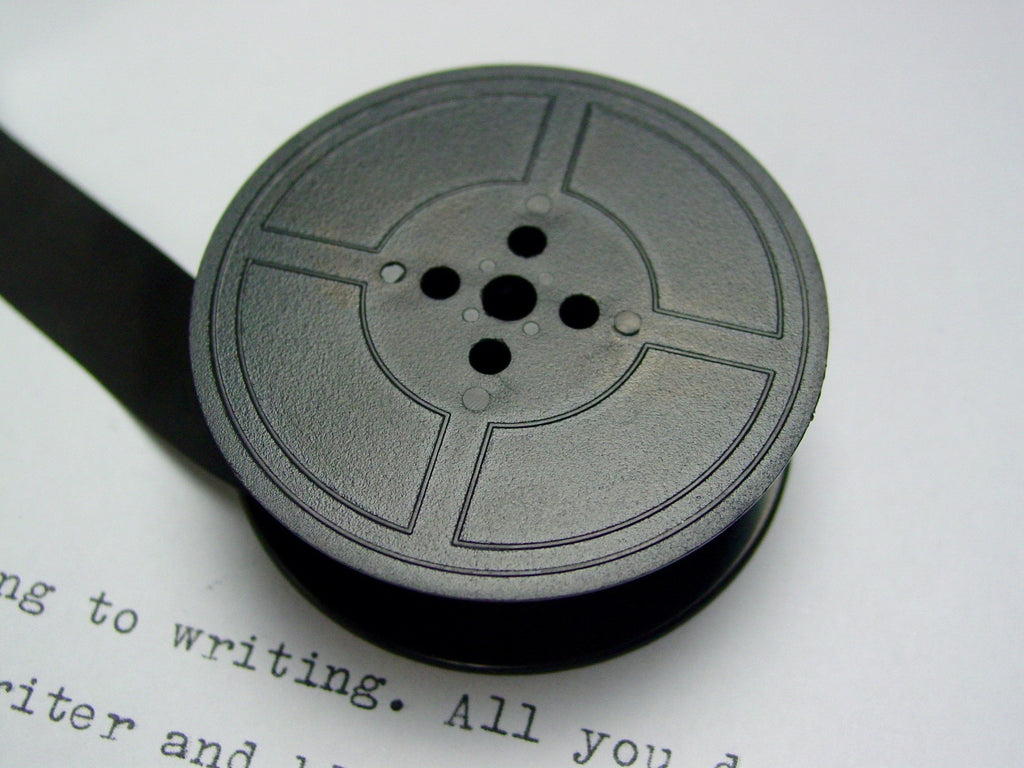 New Plain Black Group 9 Typewriter Ribbon for Brother , Hermes and Silver Reed