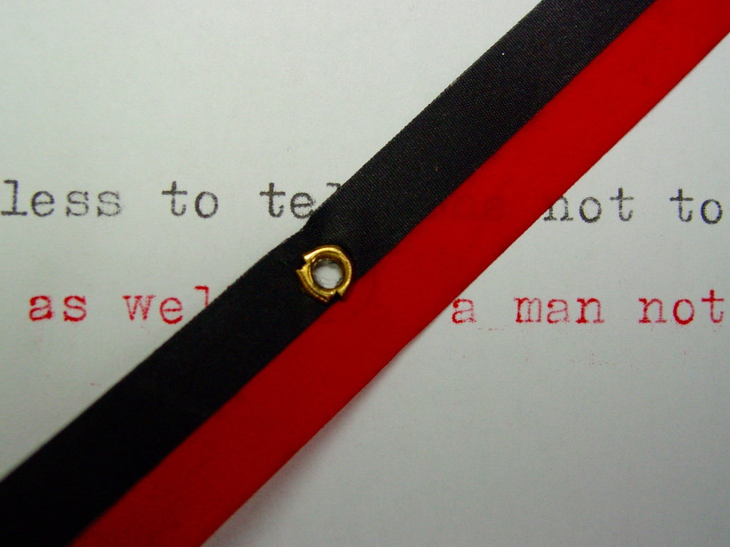New Red & Black Group 9 Typewriter Ribbon for Brother , Hermes ,Silver Reed, Royal, Earlier Underwoods and Smith Corona's