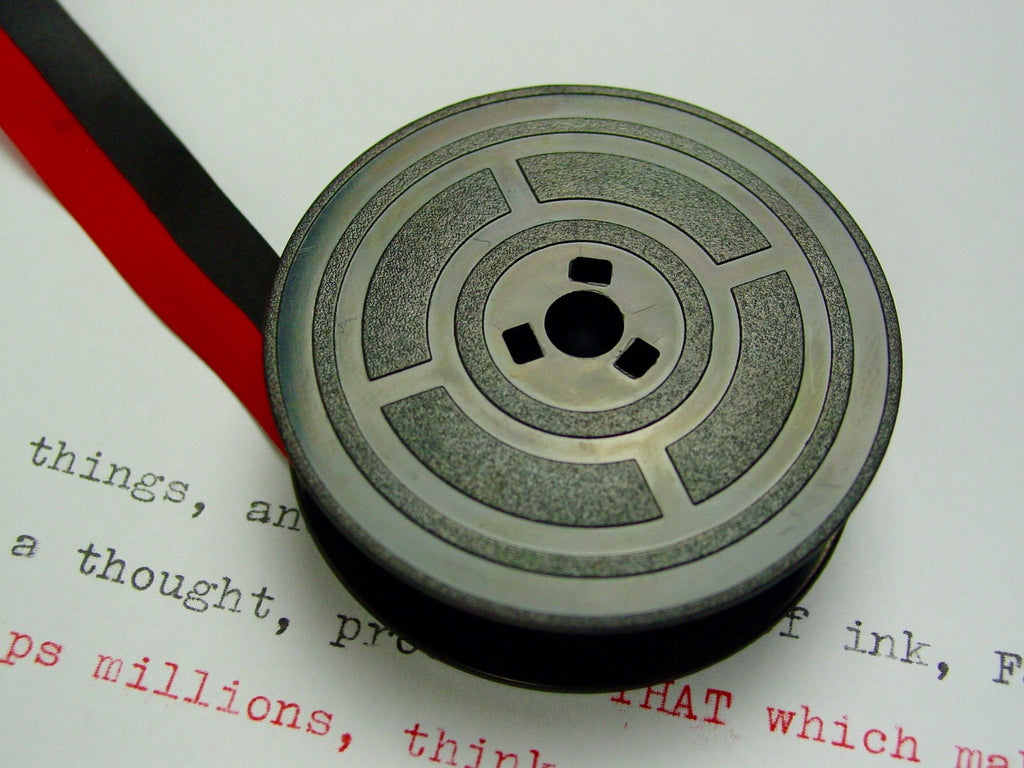 Red and Black Olivetti Typewriter Ribbon from Charlie Foxtrot