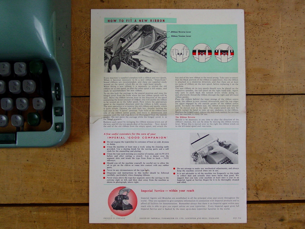 "Imperial ""Good Companion"" No 5 Instruction Manual Set"