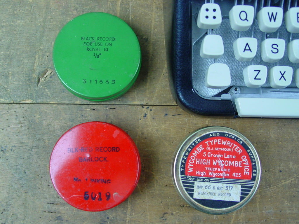 Set of 3 Typewriter Ribbon Tins, Chancery, Tomahawk and Imperitype