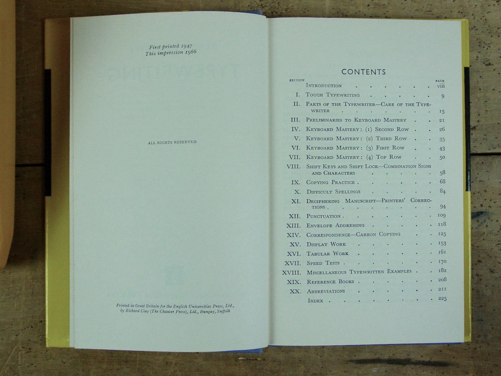 Pitman's College Typewriter Book