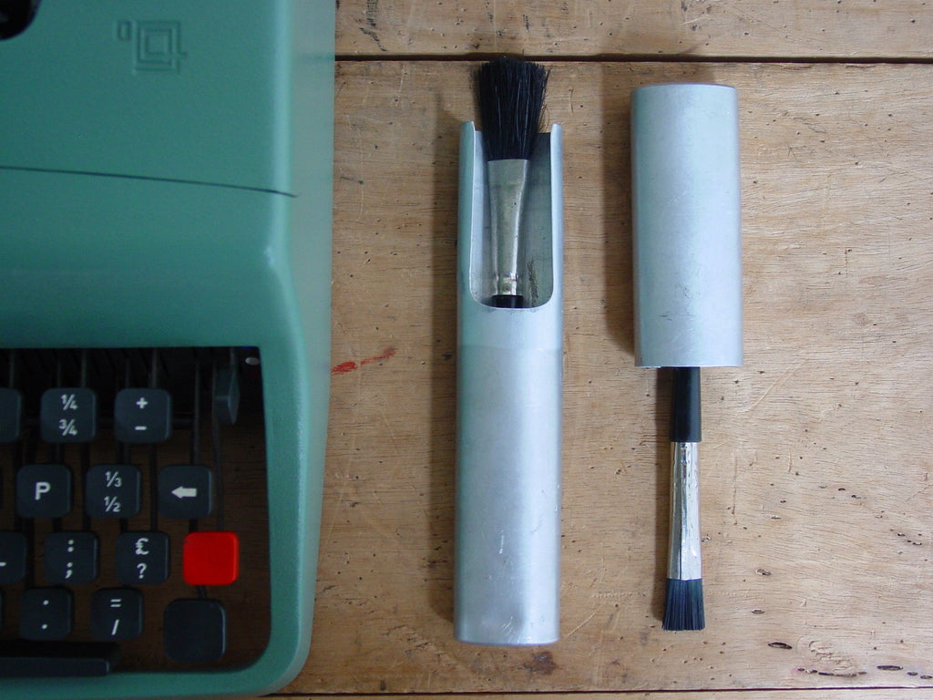 Vintage Olivetti Typewriter Brush Set