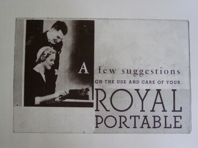 Typewriter , 1934  Royal Portable