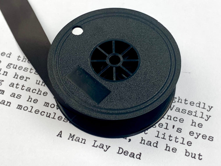 New Plain Black Group 9 TW1 Typewriter Ribbon for Brother, Hermes, Silver Reed, Royal, Underwood