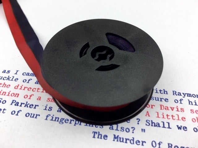 Navy Blue and Red Typewriter Ribbon from Charlie Foxtrot