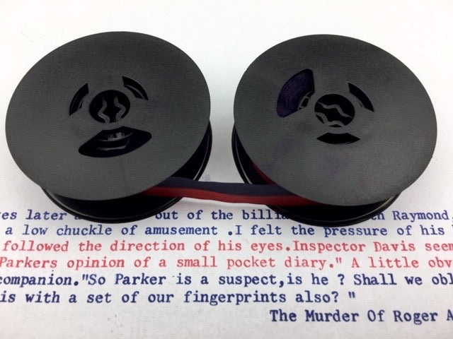 New Plain Navy Blue and Red Universal Typewriter Ribbon