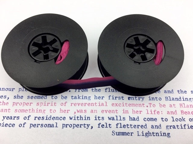 New Plain Navy Blue and Pink Universal Typewriter Ribbon