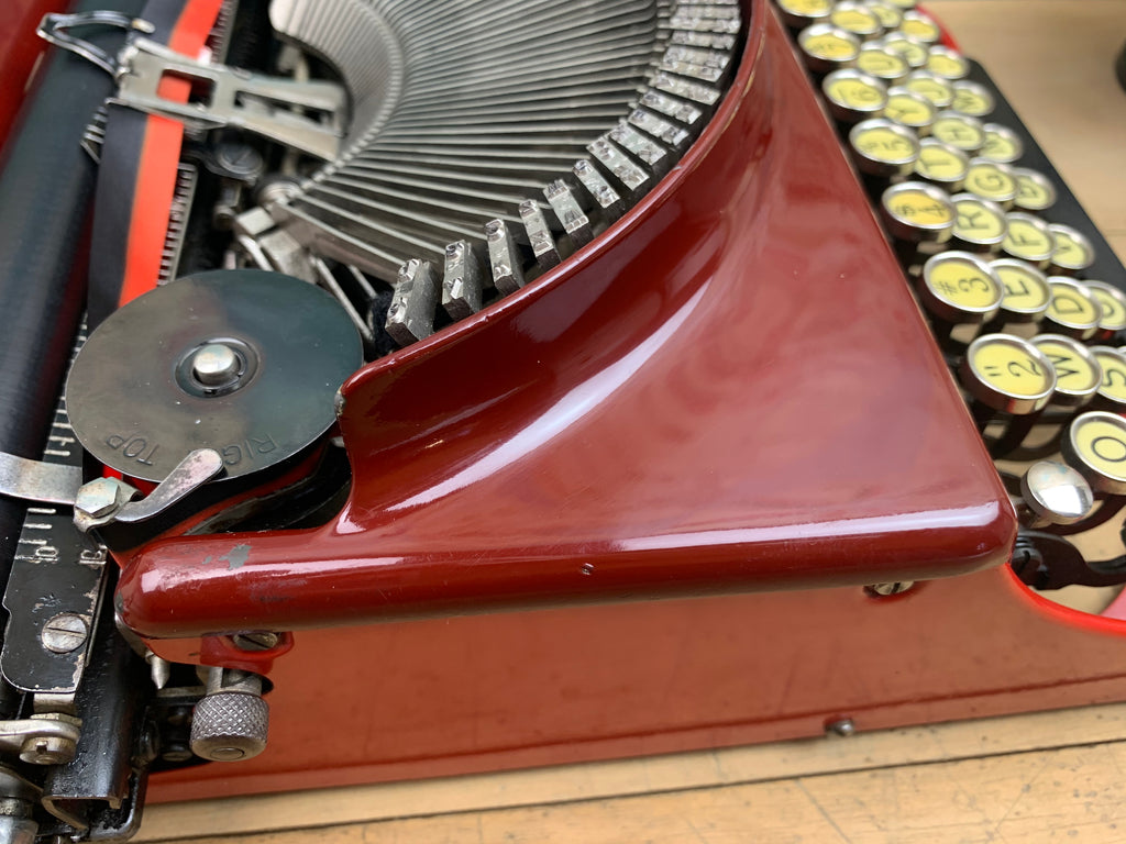 Typewriter, 1929 Rare Red Remington
