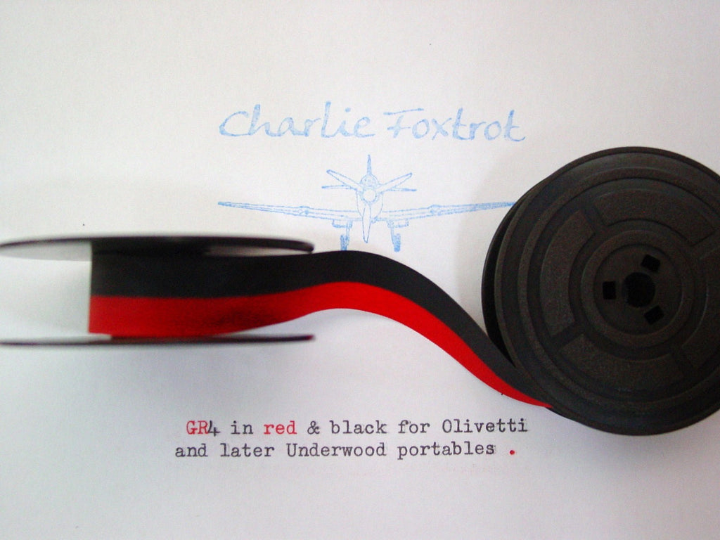 GR 4 Olivetti red and black typewriter ribbon