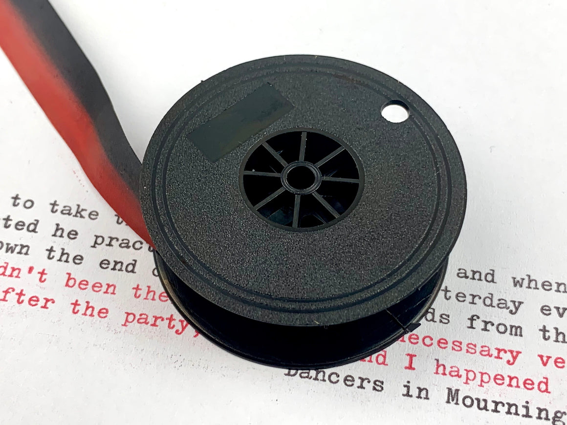 New Black and Red Group 9 TW1 Typewriter Ribbon for Brother, Hermes, Silver Reed, Royal, Underwood