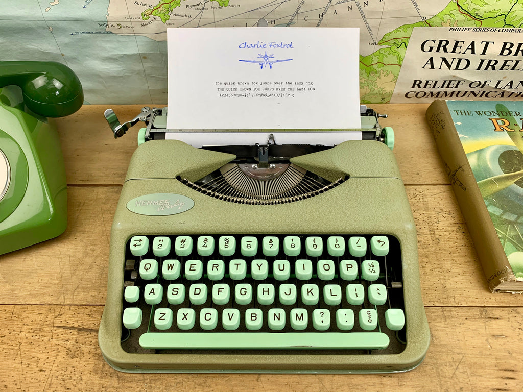 Hermes Baby Typewriter from Charlie Foxtrot Typewriters