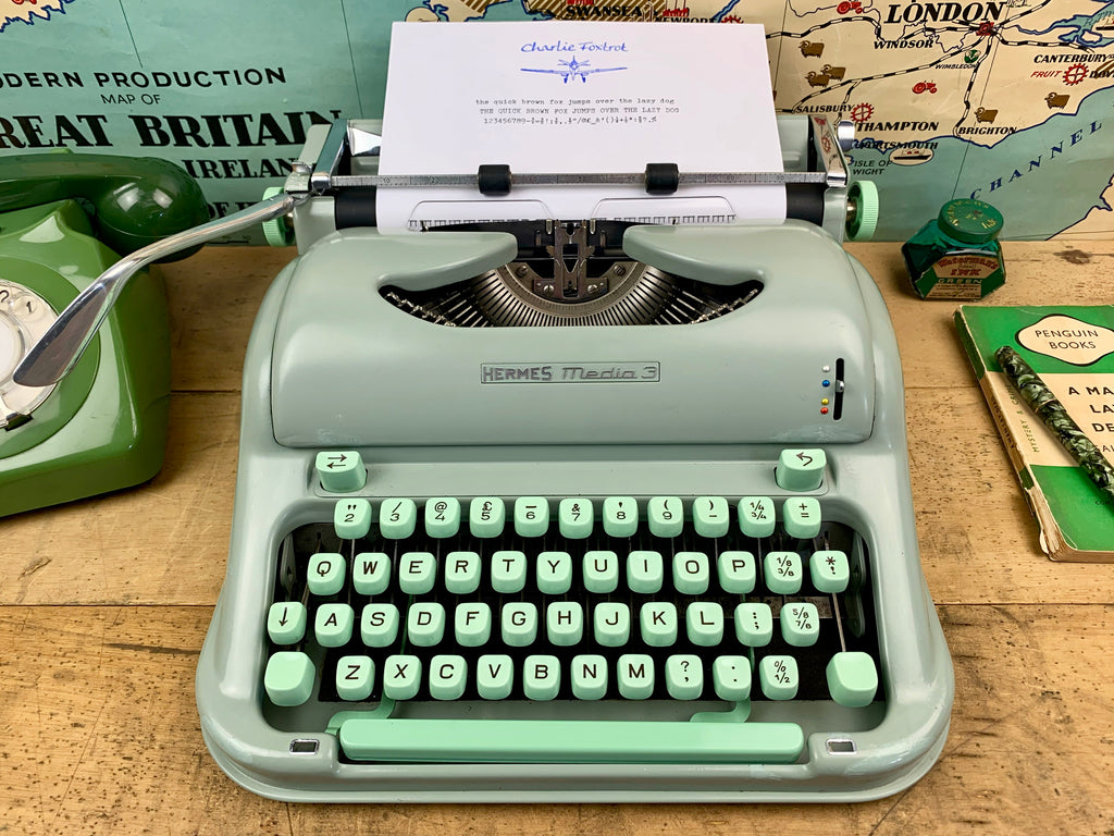 Hermes Media Typewriter from Charlie Foxtrot Typewriters