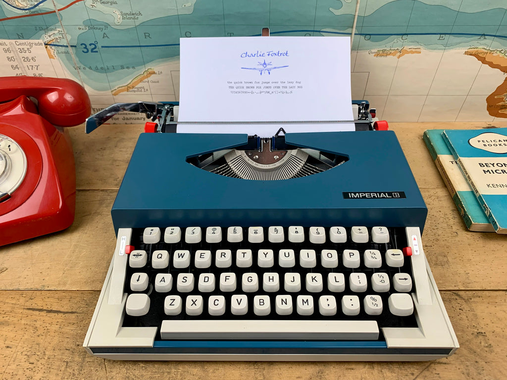 Imperial 220 Typewriter from Charlie Foxtrot Typewriters