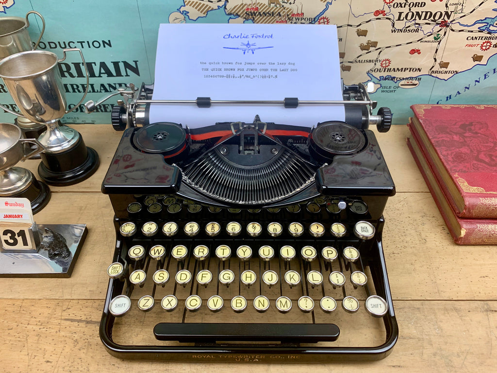 Royal Typewriter from Charlie Foxtrot Typewriters