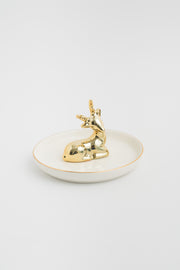 Gold Deer Trinket Dish