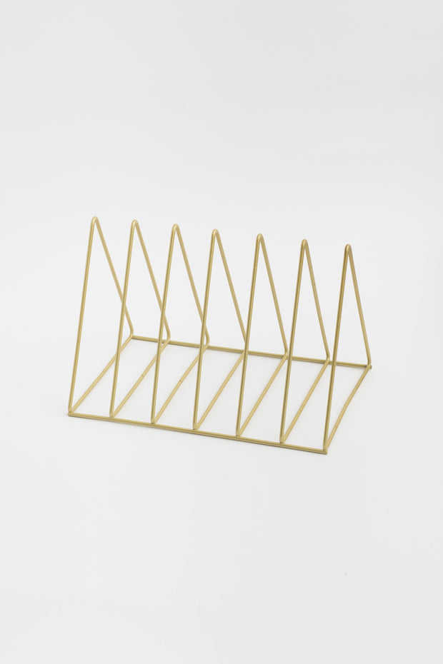 Camille Gold Book Rack Display