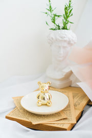 Gold Teddy Bear Trinket Dish