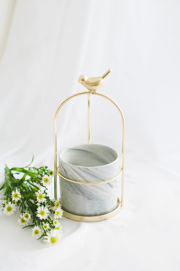Birdy Gold Rack Marble Holder