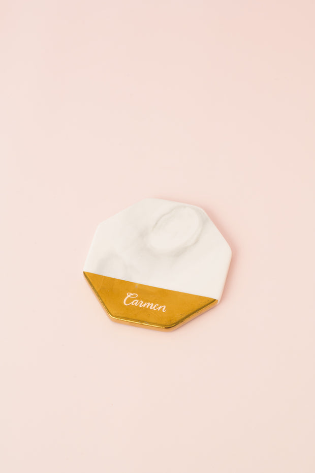 Hygge Marble Coaster - Octagon