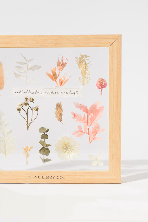 Botanical Garden Quote Frame