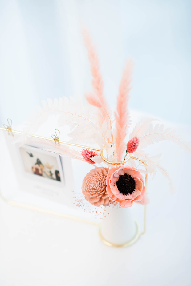 Blissful Garden Floral Photo Rack and Vase