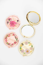 Cherry Blossom Resin Compact Mirror