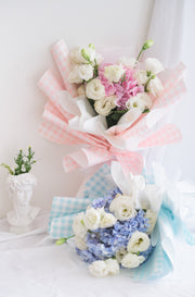 Pastel Love - Gingham Blue