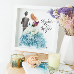 Artprint with Preserved Flowers-Backview Couple-Love Limzy Co.