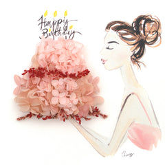 Artprint with Preserved Flowers-Birthday Girl-Large Masterpiece ( 50 x 50 cm )-Completed Piece-Love Limzy Co.