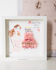 Artprint with Preserved Flowers-Cheerful Birthday Girl-Love Limzy Co.