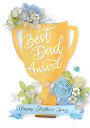 Artprint with Preserved Flowers-Dad's Trophy-Love Limzy Co.