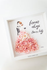 Artprint with Preserved Flowers-Dancing Couple-Love Limzy Co.