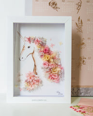 Artprint with Preserved Flowers-Floral Unicorn-Love Limzy Co.