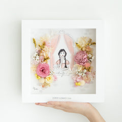 Artprint with Preserved Flowers-Girl By The Window-Love Limzy Co.