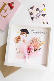 Artprint with Preserved Flowers-Graduation Bouquet Girl-Love Limzy Co.