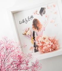 Artprint with Preserved Flowers-Graduation Girl-Love Limzy Co.