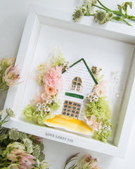 Artprint with Preserved Flowers-Home Sweet Home-Love Limzy Co.