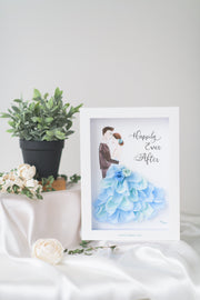 Artprint with Preserved Flowers-La Vie En Rose Couple-Love Limzy Co.