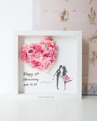 Artprint with Preserved Flowers-My Heart My Valentine-Love Limzy Co.