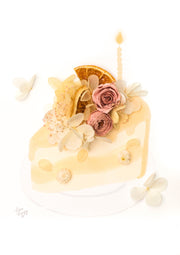 Artprint with Preserved Flowers-Orange Slice Cake-Love Limzy Co.