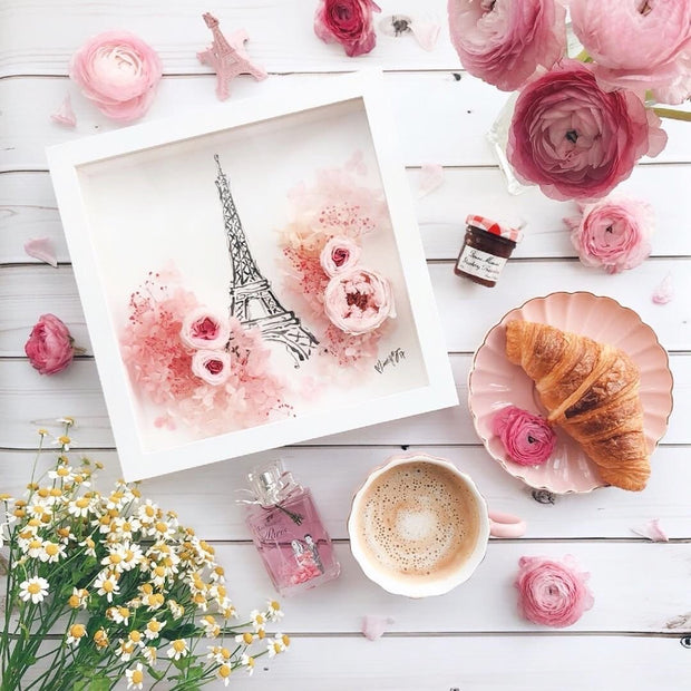 Artprint with Preserved Flowers-Paris in Spring-Love Limzy Co.