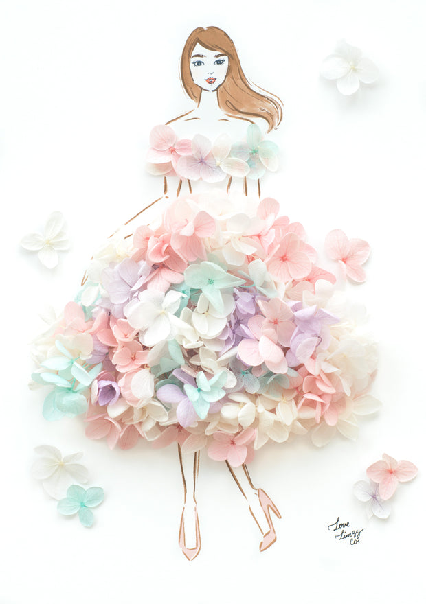 Artprint with Preserved Flowers-Pastel Dream-Love Limzy Co.